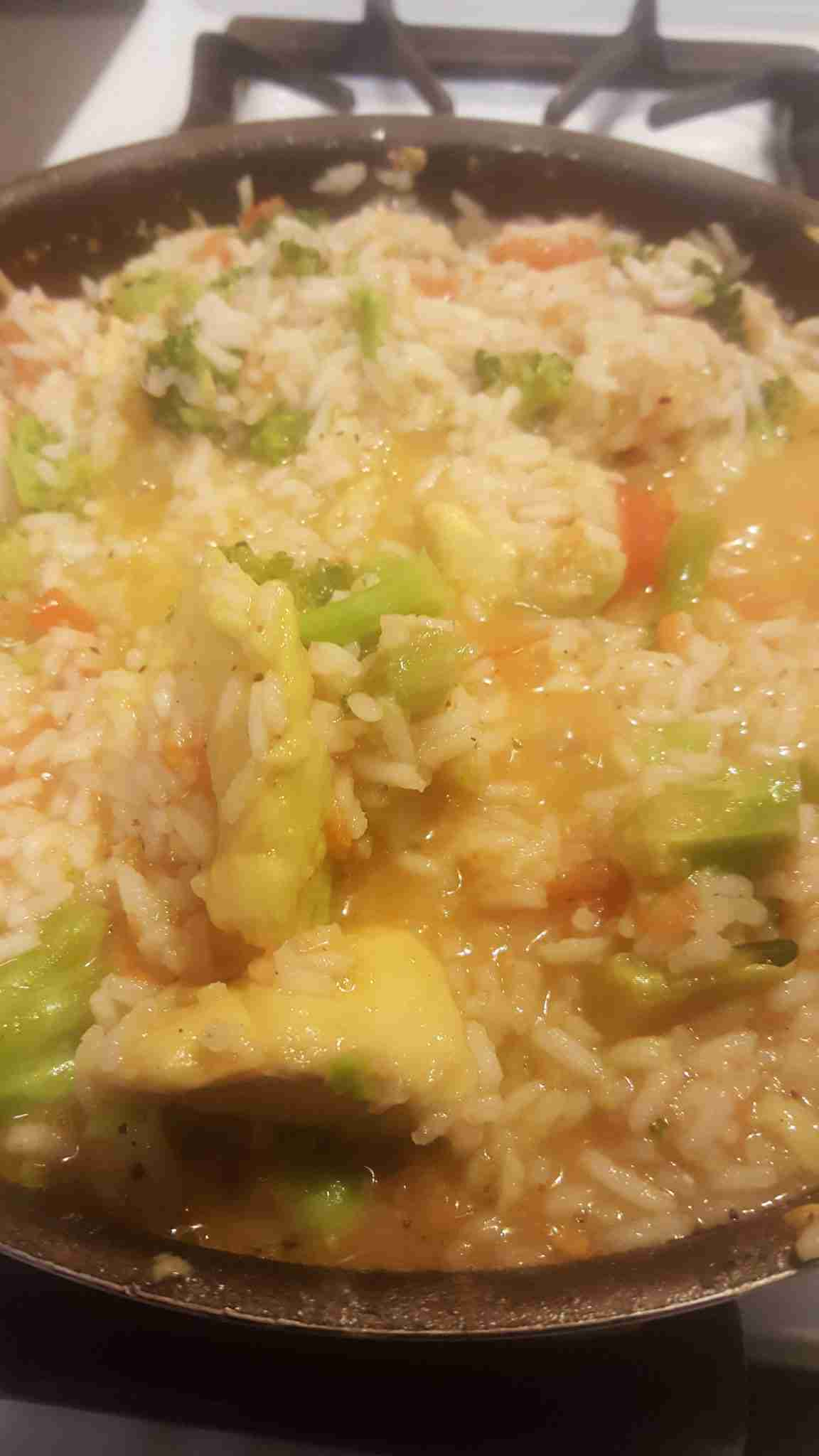 Vegans eat rice, right? Of course. Everyone loves rice. It's seen as a low-calorie carb that is easy to digest and won't cause weight gain. I've been experimenting with healthy cooking in order to load up on fruits and veggies, increase energy, slim down, and just overall, be a healthier me. So, I started this dish off with rice. In this case, lots and lots of rice because I always make the mistake of adding too much rice whenever I make anything (I'm not really into measuring). So, naturally, I ended up with enough rice to feed eight people. (Which definitely makes me sad, but I will talk more about how I countered this overcooking  to make healthy eating easier on my life to maintain.)
